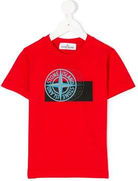 Stone Island Junior layered logo print T-shirt
