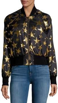 C&C California Women's Star Print Bomber Jacket