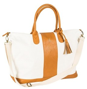 Cathy's Concepts Monogram Faux Leather Tote - Brown