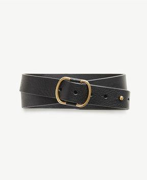 Ann Taylor Pebbled Leather Stud Belt