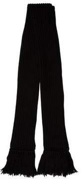 Balenciaga Wool-Blend Fringe Scarf