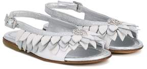 Roberto Cavalli petal trim slingback sandals