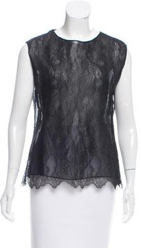 Christian Lacroix Sheer Lace Top