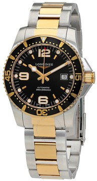 Longines Hydroconquest Automatic Black Dial Men's Watch L37423567