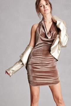 Forever 21 Velvet Cowl Neck Dress