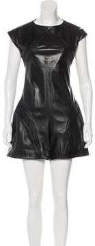 Chanel Leather Short Sleeve Romper