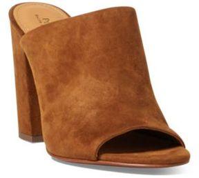 Ralph Lauren Kinley Suede Mule Sandal Whiskey 11.5