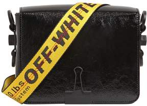 Off-White Binder Clip Patent Leather Shoulder Bag