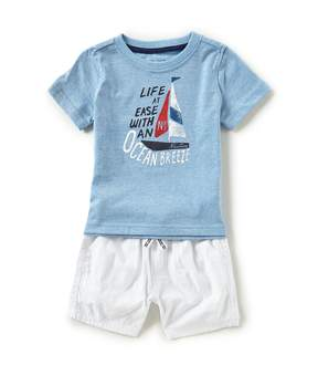 Nautica Baby Boys 12-24 Months Life At Ease Tee & Shorts Set