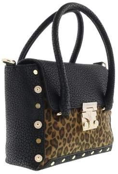 Versace EE1VQBBM4 EMHX Black/Leopard Satchel Bag