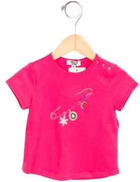 Armani Junior Girls' Printed T-Shirt w/ Tags