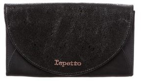 Repetto Textured Flap Clutch