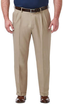 Haggar Premium Comfort Dress Classic Fit Pleated Pants-Big and Tall