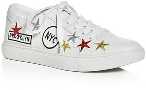 Kenneth Cole Kam NYC Embellished Lace Up Sneakers