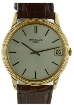 Patek Philippe 3602 Calatrava Hobnail Bezel 18K Yellow Gold Mens Watch