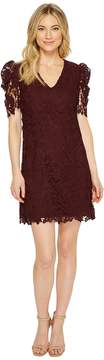 Donna Morgan V-Neck Shift Dress with Puff Sleeve Women's Dress