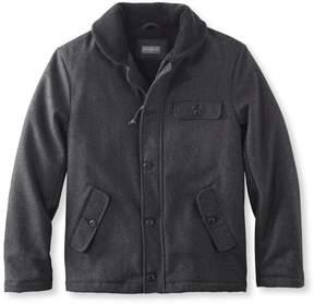 L.L. Bean L.L.Bean Signature Sherpa-Lined Wool-Blend Jacket, Slim Fit