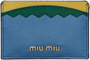 Miu Miu Tricolor Logo Card Holder
