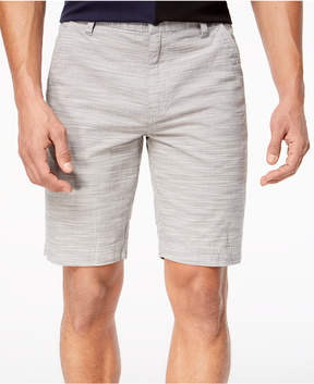 INC International Concepts I.n.c. Men's Flat-Front Texture-Stripe Shorts, Created for Macy's