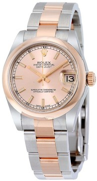 Rolex Datejust 31 Pink Dial Automatic Ladies 18 Carat Everose Gold Oyster Watch