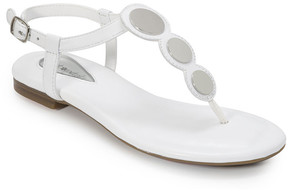 Foot Petals Off-White Ellie Leather T-Strap Sandal - Women