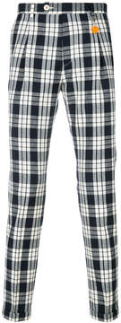 Manuel Ritz checked slim fit trousers