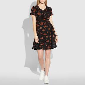 Coach New YorkCoach Outerspace Print Pleated Dress