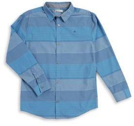 Calvin Klein Jeans Boy's Striped Casual Button-Down Shirt