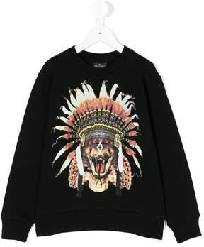 Marcelo Burlon County of Milan Kids feather headdress sweatshirt