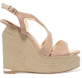 Paloma Barceló Lena Suede Wedge Sandals