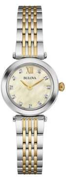 Bulova Diamond and Two-Tone Stainless Steel Watch- 98P154
