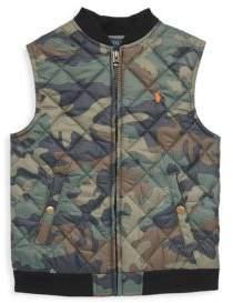 Ralph Lauren Toddler's, Little Boy's & Boy's Quilted Camouflage Vest
