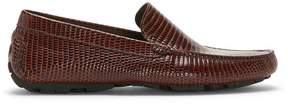 Donald J Pliner HALDEN, Lizard Print Lux Leather Driving Loafer