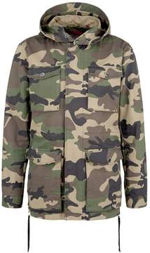 Mostly Heard Rarely Seen Military rubber appliqué camouflage print unisex parka
