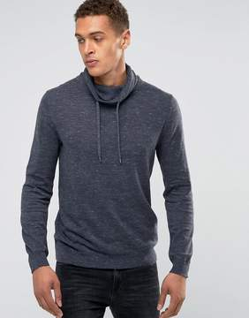 Esprit Knitted Sweater With Funnel Neck