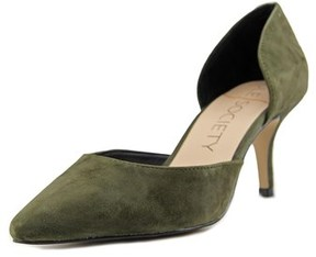 Sole Society Reymina Women Pointed Toe Suede Green Heels.