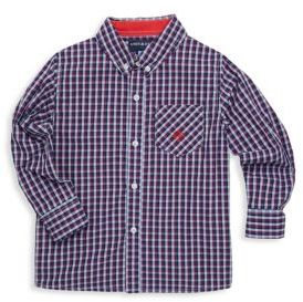Andy & Evan Toddler's, Little Boy's & Boy's Plaid Cotton Collared Shirt