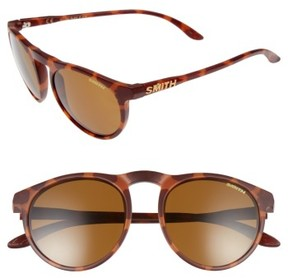 Smith Women's Marvine 52Mm Polarized Round Sunglasses - Matte Tortoise