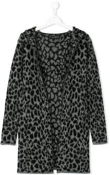 John Richmond Kids leopard cardi-coat