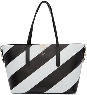 Off-White Black and White All Over Diagonal Tote