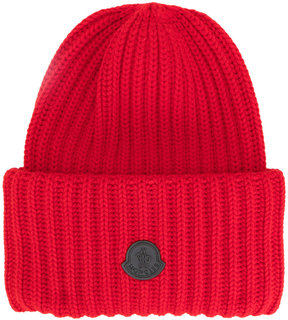Moncler chunky ribbed knit beanie