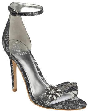 GUESS Partyer Metallic Ankle-Strap Heels