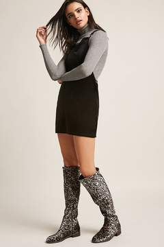 Forever 21 Very Volatile Leopard Print Over-the-Knee Boots