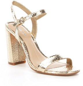 Gianni Bini Mckaria Metallic Block Heel Dress Sandals