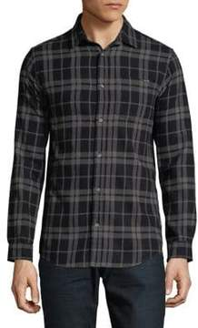 Jack and Jones Cotton Checkered Button-Down Shirt