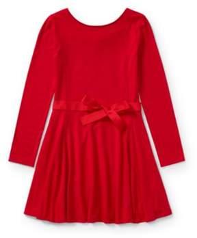 Ralph Lauren Belted Jersey Dress Park Ave Red M