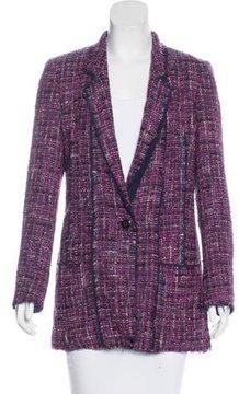 Escada Notch-Lapel Tweed Blazer