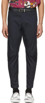 Lanvin Navy Biker Trousers