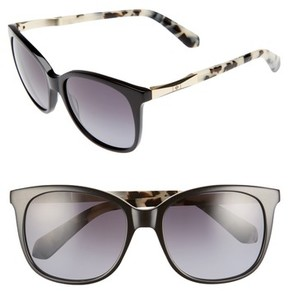 Kate Spade Women's Julieanna 54Mm Polarized Sunglasses - Black Havana
