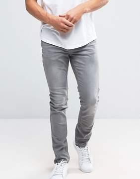 Pull&Bear Skinny Jeans In Light Gray